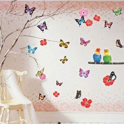 Украшать комнату своими руками бабочками