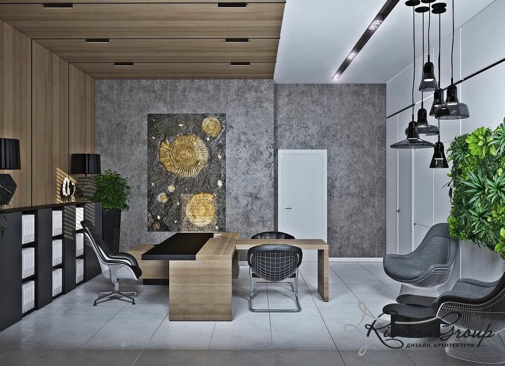 Проект дизайн интерьера офиса 17